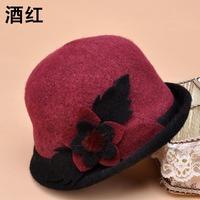 new 2014 wool fashion lady flower felt hat / women hat women fedoras lady Fedoras female cap Free shipping