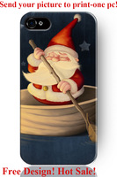 slim Christmas father boating festival day theme pattern 6 6S 4 4S 5 5S 5C cover protector sleeve for iphone 4 case Christmas