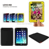 Outdoor Partner Love Mei Waterproof Dustproof Shockproof Aluminum Metal Powerful Tablet PC Protection Case For iPad Mini Mini2