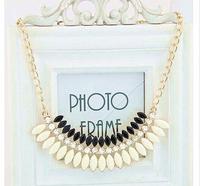 Gold Shourouk Flower Leaf Crystal Gem Choker Collar Statement Necklaces & Pendants New 2014 Fashion Jewelry Women Wholesale N145
