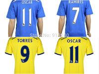 Customize! 14/15 season Chelsea jersey top quality soccer uniforms Size S-M-L-XL