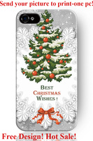 hard best Christmas wishes festival day theme pattern 6 6S 4 4S 5 5S 5C cover protector sleeve for iphone 5 case Christmas