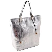NEW Casual Bag Fashion Women Leather Handbags Crocodile PU Women Bag Candy Color Vintage Women Bags Women Handbags