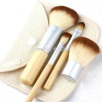 Free shipping top quality 4 pcs makeup brush set blending eyeshadow / blush brush makeup tools