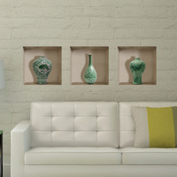 Free Shipping celadon 3D Art Wall Decals/Removable PVC Wall stickers or your home or office Decor