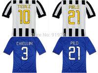 Customize! 14/15 season Juv entus jersey top quality soccer uniforms Size S-M-L-XL