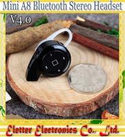 Noise Isolating A8 Snail Mini Bluetooth snail Headphone Wireless Earphone In-ear Headset
