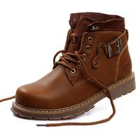 Handmade Genuine leather Men fur Snow Boots plus size men winter shoes full grain leather Super warm men winter shoes