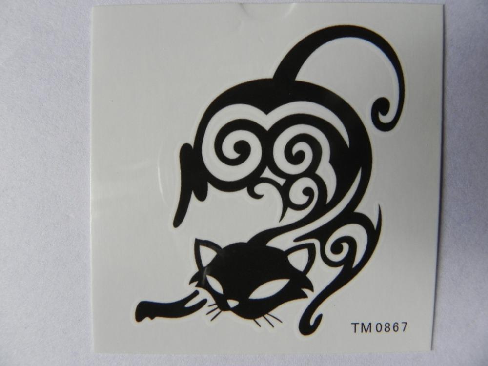 Hot 3 conjuntos de tribais leão, gato e asas de anjo sexy para Ombro do pescoço para trás Braço Tatuagens temporárias T091 T090 T157 à prova d'água(China (Mainland))