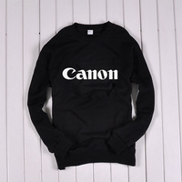 Men's Clothing Sweatshirts Computer IT digital camera Canon CANON thicker long-sleeved sweater