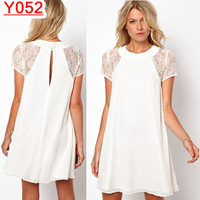 Y052--2014-2015 spring summer autumn New sexy casual lace dress S M L XL XXL Free shipping
