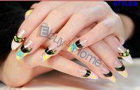 50packs/lot wholesale false nail DIY hand makeup fake finger nail tips good quality nail beauty free shipping