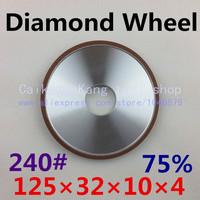 240# .Parallel resin diamond grinding wheel, Grinding wheel, diamond grinding wheel . 125*32*10*4 . 240#