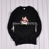 Men's Clothing Sweatshirts New Cartoon theme after 80 Dragonball Majin Buu cotton casual sweater