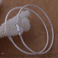 AE581 925 sterling silver earrings , 925 silver fashion jewelry , bright loop/big / ennaneua