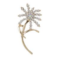 Fashion Women Hot Sale Gold Flower Rhinestone Brooch Bouquet