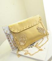 2014 women's fashion handbag one shoulder cross-body small bags chain rivet mini bag cute bag