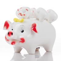 Ceramics pig piggy bank piggy bank lucky pig gift