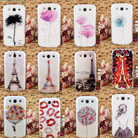 Min. order is $10(Mix order) Free Shipping Multiple Painting Patterns Back Case Cover Shell For Samsung Galaxy S3 i9300 EC287
