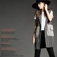 Autumn new arrival 2014 women's single row button fashion trench