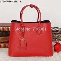 2014 p women's bag first layer of cowhide women's handbag designer brand fashion handbag uncovered genuine leather shopping bag