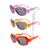 NEW GIRLS Kids Childrens TR90 OUTDOOR Bow Polarized sunglasses &Test paper