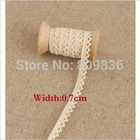 Cotton women  trimming lace ,NATURE COLOR,0.7cm.crochet lace,lace appliques(ss-360)