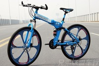 014 new style 26 inch fold mountain bike variable suspension type 21\24\27speed bicycle for men and women