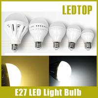 10pcs Quality Assurance E27 Led Bulb 3W 4W 5W 7W 9W 10W 12W 15W LED Lamp, 220V Cold Warm White Led Spotlight Lamps Free Shipping
