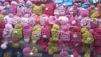 2014 girls Handmade girls Handmade crochet winter beanie amhat cap barret knit hat Skullies 22pcs/lot MIXED COLOR STYLE #3702