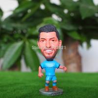 Hot sale!New arrival!14-15 season Free shipping football star doll/toy figure of sergio aguero in man city football fan souvenir