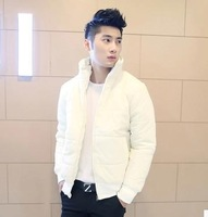 Free shipping 2014 new men cotton winter fashion korean outfit cotton-padded jacket coat tide joker pure color 1138