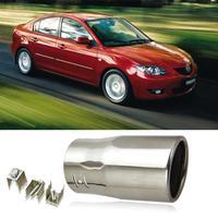 1pcs Chrome Stainless Steel Exhaust Muffler Tail Pipe Tip For Volkwagen Jetta Toyota Corrlla Vios Terios