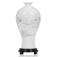 Ceramics modern fashion brief home decoration crafts vase decoration