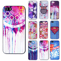 Min. order is $10(Mix order) New Fashion Cute Design Painted Pattern Hard Back Case Cover Protector For Apple iPhone 5C EC290