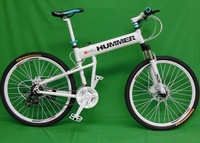 "26""x18"" inch aluminium hummer folding mountain bicycle,21 speed, disc brakes tall man folding bicycle bike"