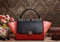 TOSSO 3342  original caviar leather  2014  new  fashion women design leather totes bag  handbag top quality wholesale