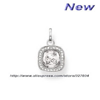 Free shipping hot selling hot charm ts new tms silver factory price ts0745 square  decorations