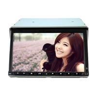 JOYOUS 7 inch 2 Din slide-down Universal car DVD Player, built-in GPS/DVB-T,support BT/Radio/RDS/APE/Game