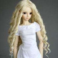"[wamami] 13# Blonde Wavy Crimp Long Wig 1/3 SD AOD DOD DZ BJD Dollfie 8-9"""