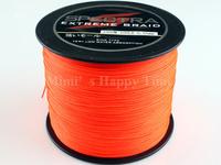 1000M Spectra PE Dyneema Braided Fishing Line 50LB 0.36mm Orange free shipping