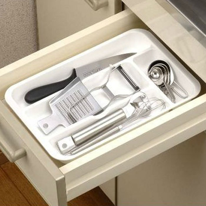 Plastic Drawer Spoon Fork Storage Box Storage Plate Organize Box Drawer Container(China (Mainland))