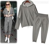 2014 autumn mm plus size casual sports set individuality sweatshirt fashion female