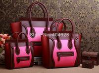 pink horse fur  original leather bag mini nano Micro 3307 3308 3309 smile fashion women handbag top quality wholesale