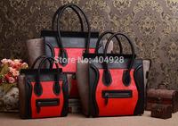 red horse  fur original leather bag mini nano Micro 3307 3308 3309 smile fashion women handbag top quality wholesale