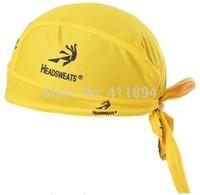 Yellow Cycling Cap Le Tour De France pirate bandanas hat Bike Cycling Ride Sports Sweat bandanas Wear Headgear Cool Sportswear