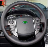 XuJi Black Genuine Leather Steering Wheel Cover for Land Rover Freelander 2 Range Rover Sport 2010-2013