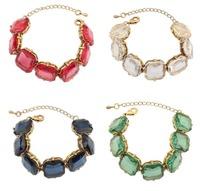 2014 New Fashion Luxury Wedding Bracelets Bangles Vintage 5 Colors Plated Bracelet Crystal Bracelets For Women