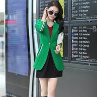 D29 New Design Women Autumn plus size M-XXL Cotton Blends stylish comfortable coat Blazers Female Slim Small Suit outwear jacket