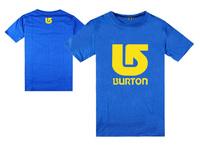 17 style to choose Brand Burton white and yellow logo t shirt short sleeve t-shirt snowboard tee shirt fitness tshirt
